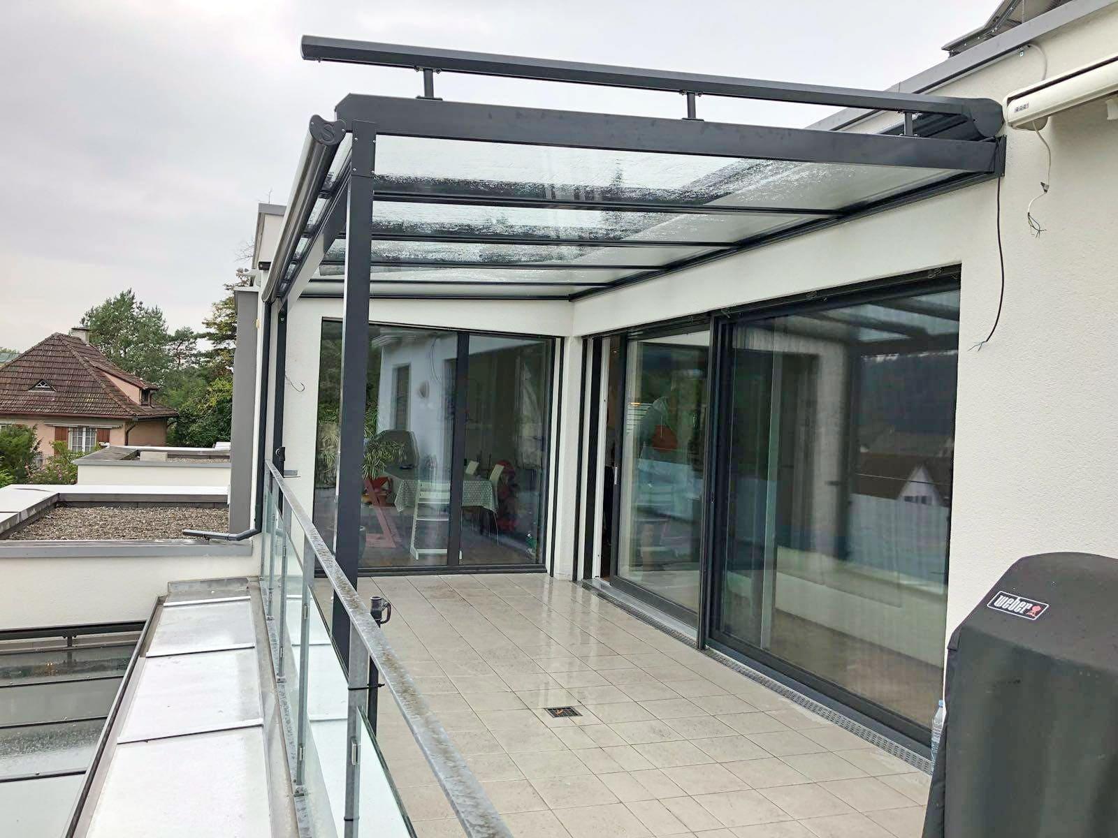 стеклянная крыша на балконе фото енисейской сибири